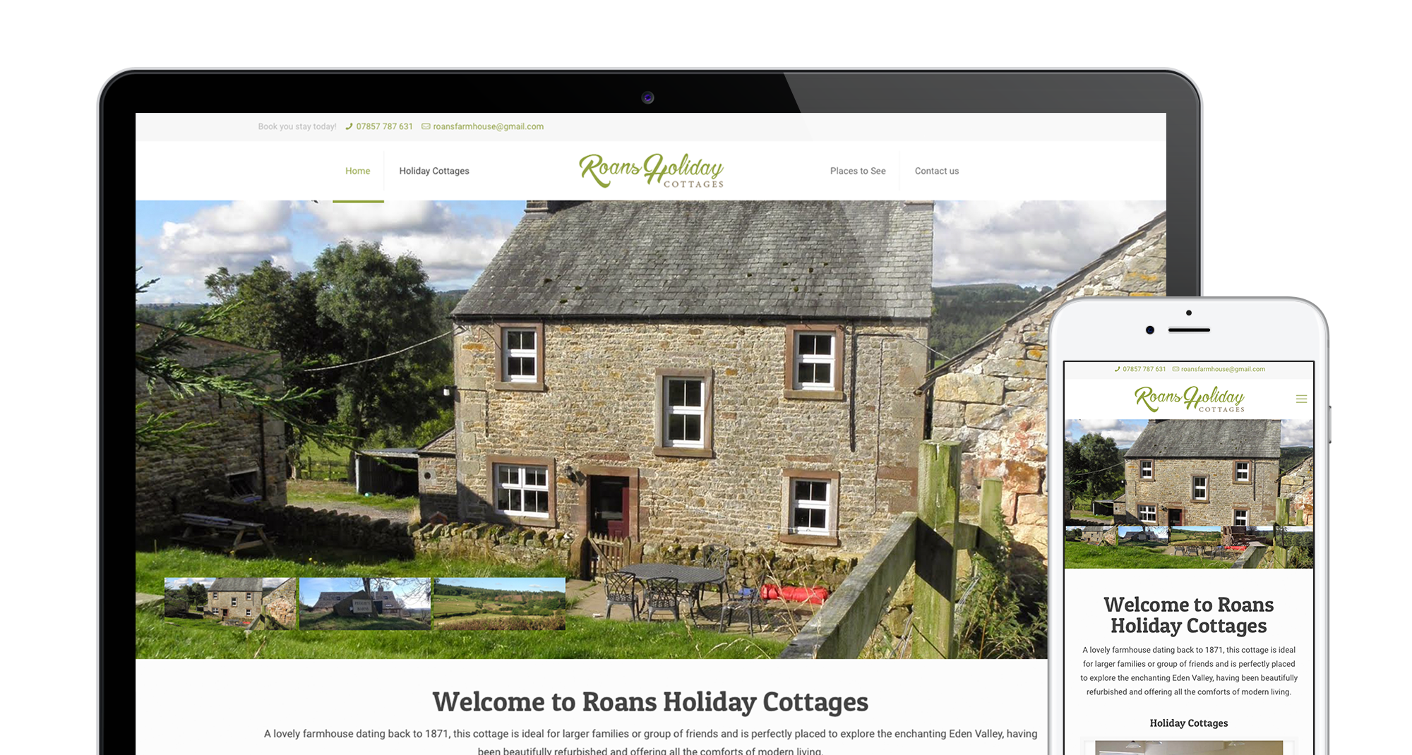 Roans Holiday Cottages Main Header Image
