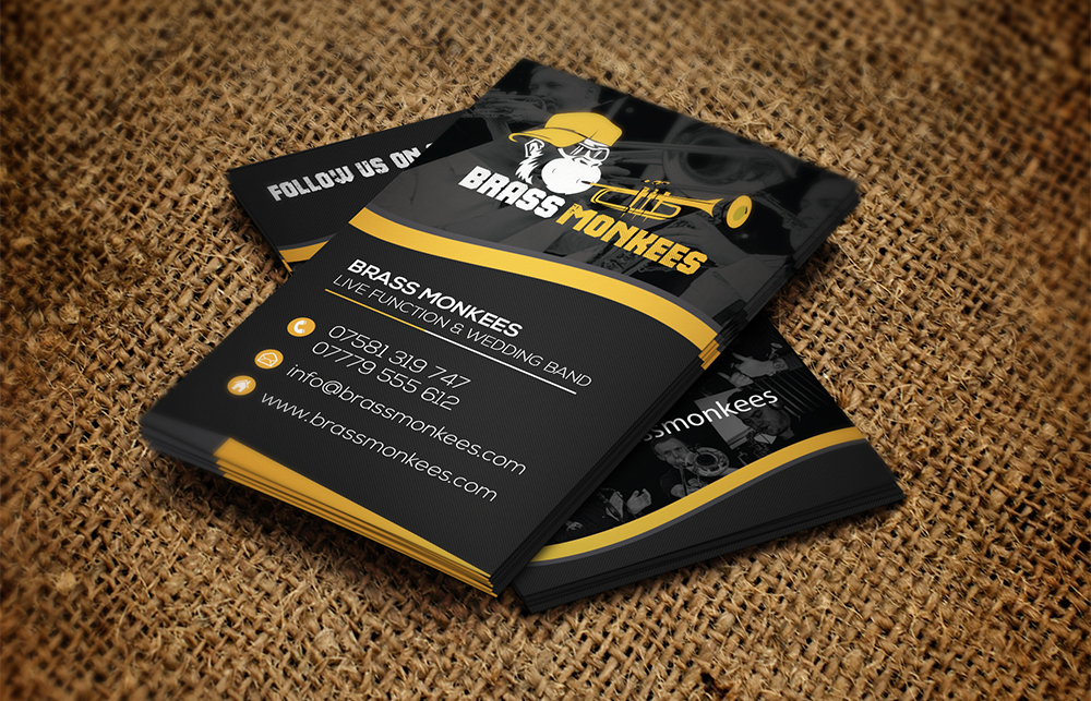 Brass Monkees Business Card