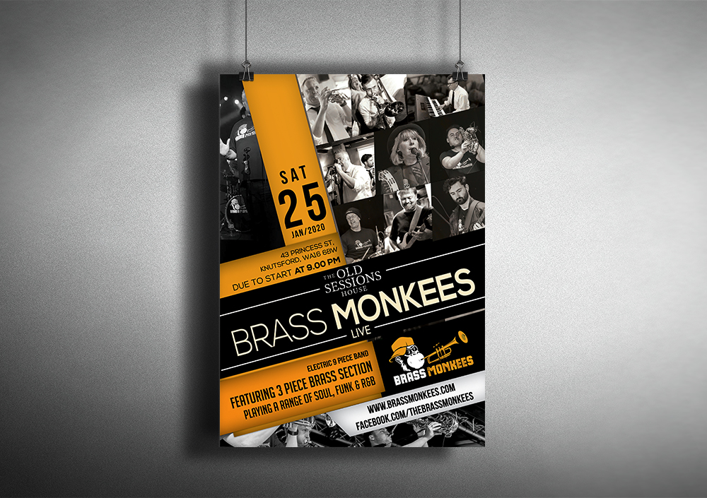 Brass Monkees Poster