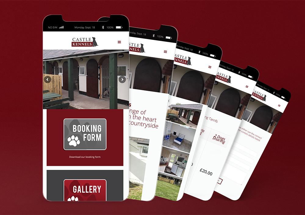 Castle Kennels Mobile Website