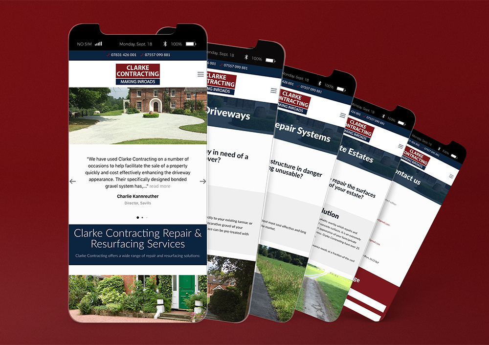 Clarke Contracting Mobile Website