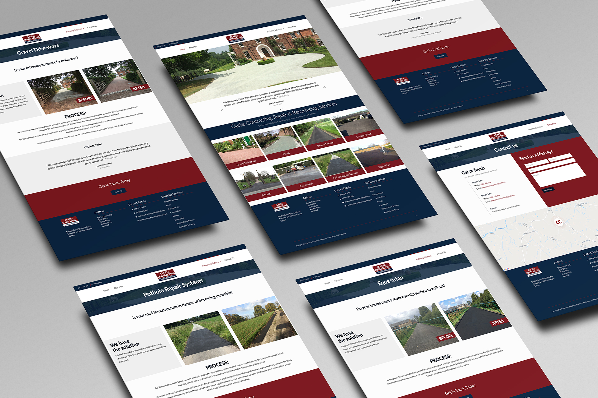 Clarke Contracting Website 1
