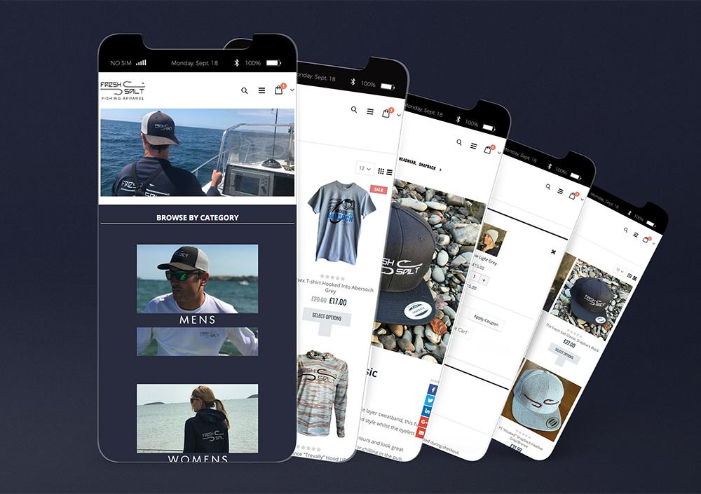 Fresh Salt Mobile Website