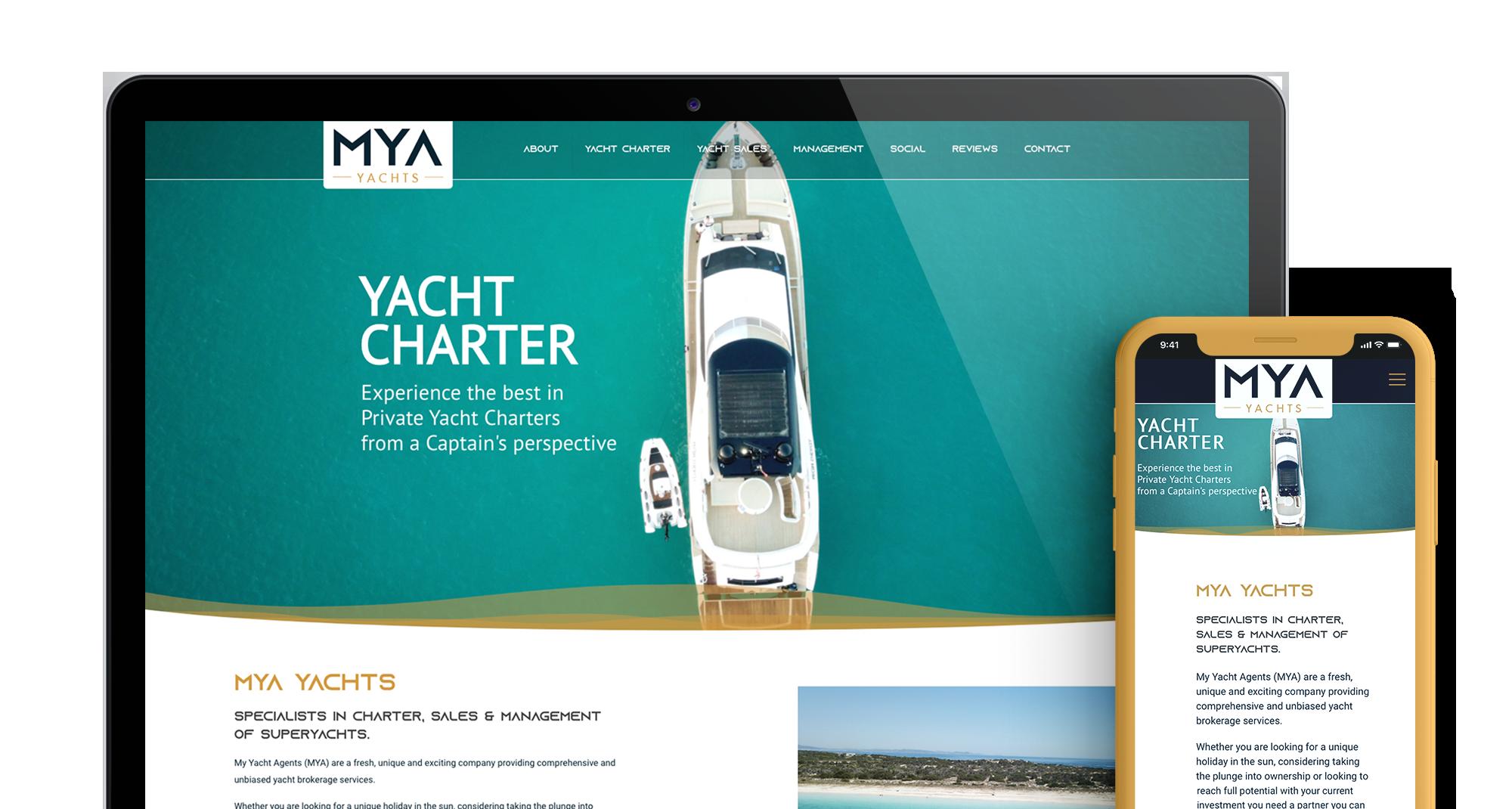 MYA Yachts Header Main Image