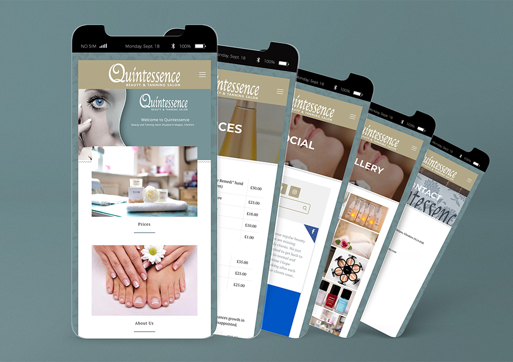 Quintessence Mobile Website