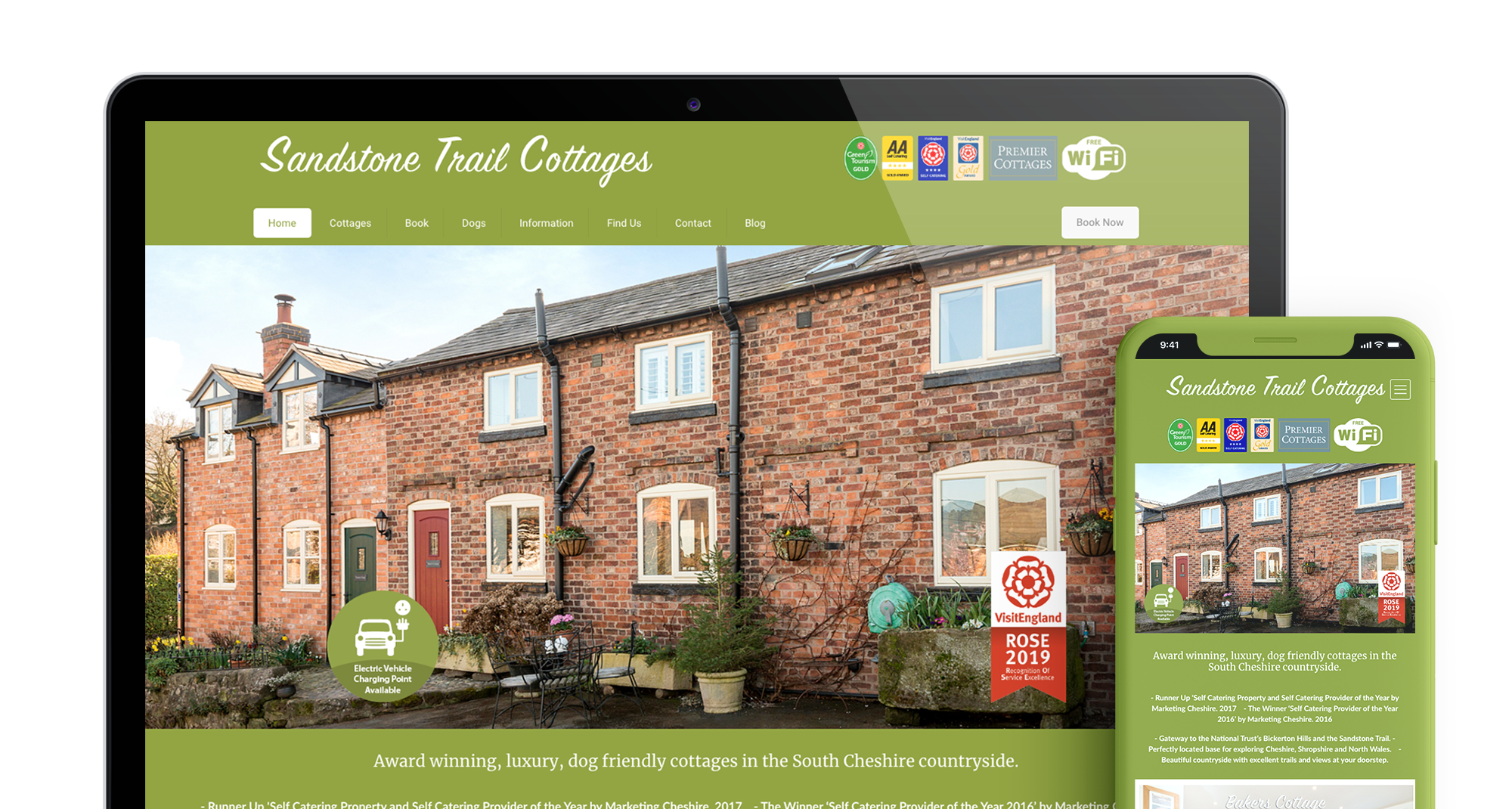Sandstone Trail Cottages Header Main Image