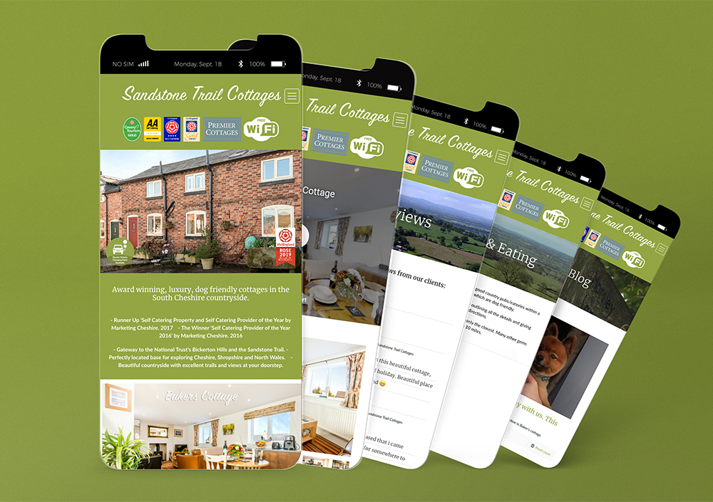 Sandstone Trail Cottages Mobile Website