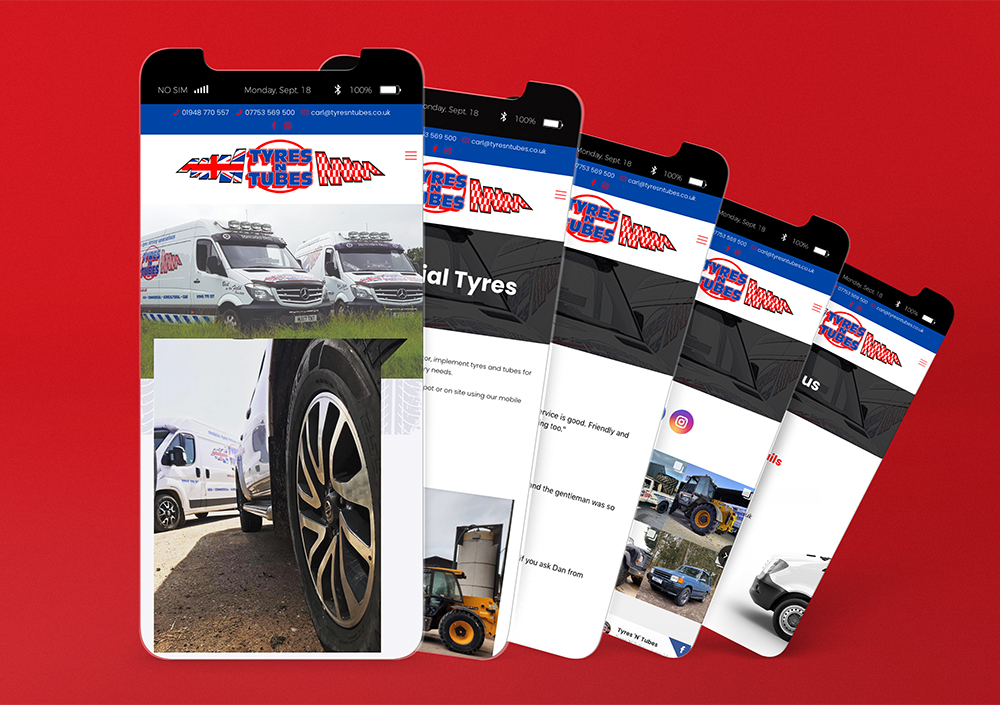 Tyres n Tubes Mobile Website